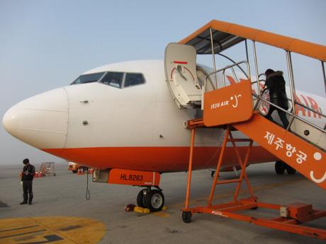 チェジュ航空でソウルから名古屋へ