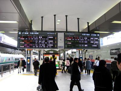 久しぶりに東北新幹線