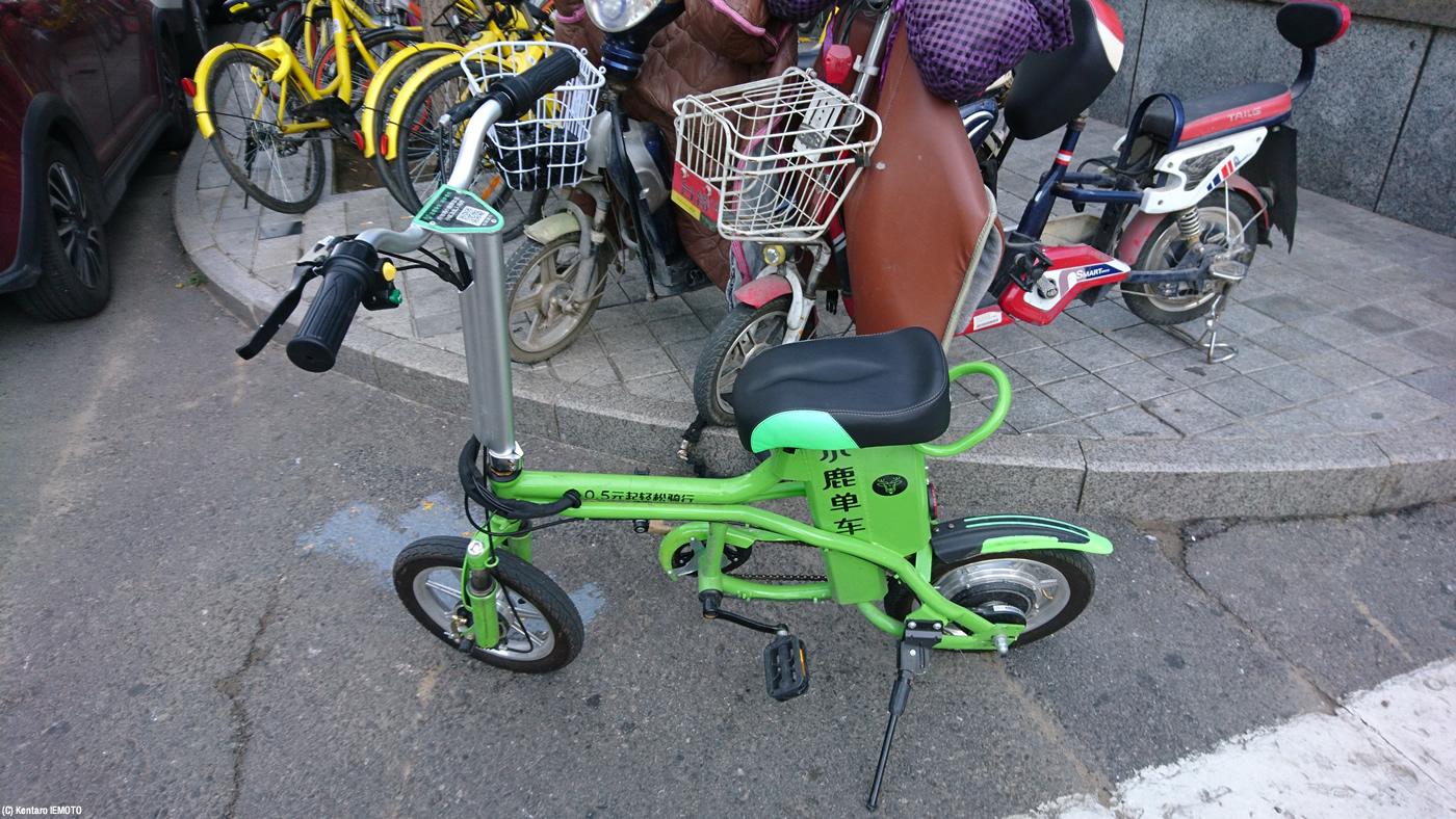 シェア電動車「小鹿単車」(DEER BIKE)