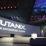 Nutanixは「ENTERPRISE CLOUD」を実現するソフトウェア製品というメッセージを前面に。