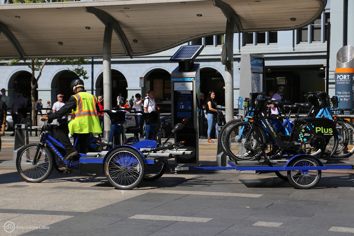 BLUE Bikesと同じような考え方だが後ろの台車は一台だけ。